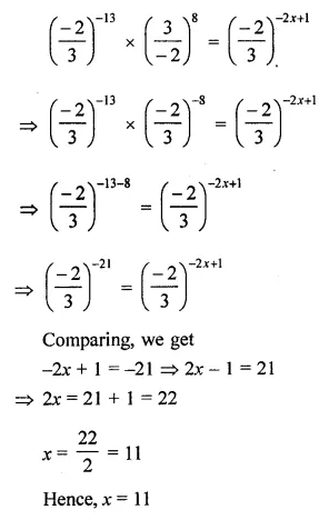 ML Aggarwal Class 8 Solutions Chapter 2 Exponents and Powers Ex 2.1 Q13.1