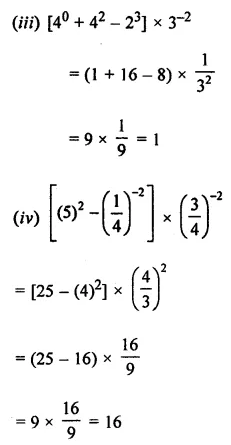 Maths Questions for Class 8 ICSE With Answers Chapter 2 Exponents and Powers Ex 2.1 Q2.2