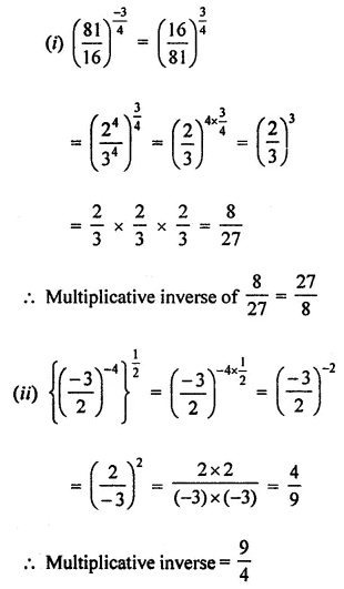 ML Aggarwal Maths for Class 8 Solutions Book Pdf Chapter 2 Exponents and Powers Ex 2.1 Q3.1