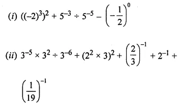 ML Aggarwal Class 8 Solutions Chapter 2 Exponents and Powers Ex 2.1 Q7