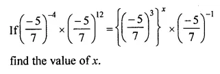 Maths Questions for Class 8 ICSE With Answers Chapter 2 Exponents and Powers Ex 2.1 Q12
