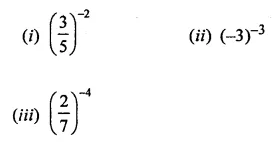 ML Aggarwal Class 8 Solutions Chapter 2 Exponents and Powers Ex 2.1 Q1