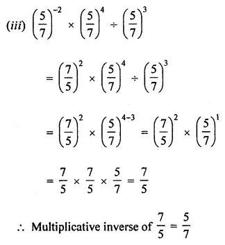 ML Aggarwal Class 8 Solutions Chapter 2 Exponents and Powers Ex 2.1 Q3.2