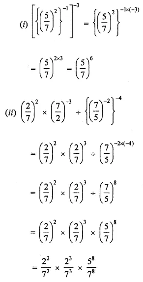 Maths Questions for Class 8 ICSE With Answers Chapter 2 Exponents and Powers Ex 2.1 Q6.1