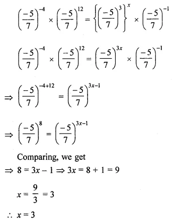 ICSE Mathematics Class 8 Solutions Chapter 2 Exponents and Powers Ex 2.1 Q12.1