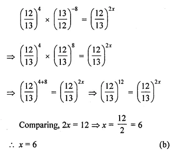 ML Aggarwal Maths for Class 8 Solutions Book Pdf Chapter 2 Exponents and Powers Objective Type Questions Q12.1
