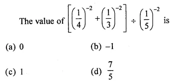 ML Aggarwal Class 8 Solutions Chapter 2 Exponents and Powers Objective Type Questions Q4