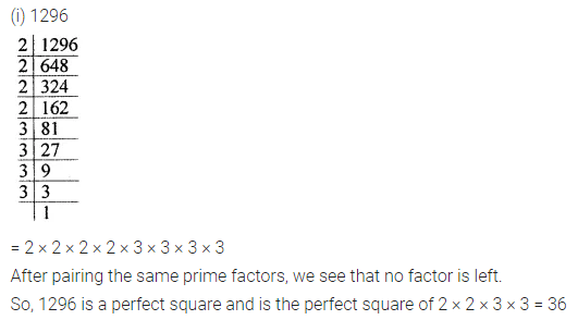 ICSE Understanding Mathematics Class 8 Solutions Chapter 3 Squares and Square Roots Ex 3.1 Q2