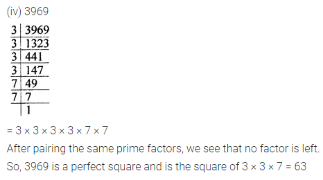 Maths Questions for Class 8 ICSE With AnswersChapter 3 Squares and Square Roots Ex 3.1 Q2.2