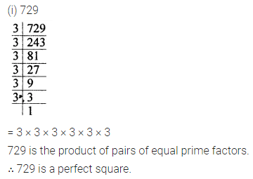 ICSE Mathematics Class 8 Solutions Chapter 3 Squares and Square Roots Ex 3.1 Q1