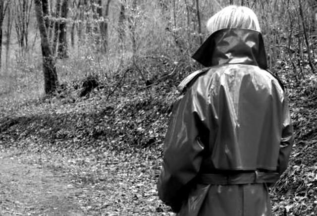 Walking in the woods (B&W)