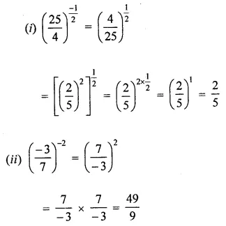 ML Aggarwal Maths for Class 8 Solutions Book Pdf Chapter 2 Exponents and Powers Check Your Progress Q1.1