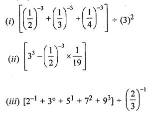 ML Aggarwal Class 8 Solutions Chapter 2 Exponents and Powers Check Your Progress Q2