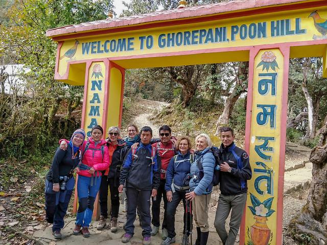 Arrivée à Ghorepani