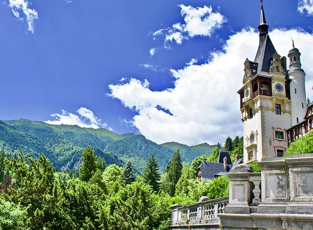 Peles Castle, set in the scenic mountain resort of Sinaia