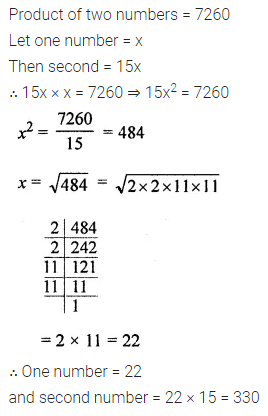 ML Aggarwal Class 8 Solutions Chapter 3 Squares and Square Roots Ex 3.3 Q11