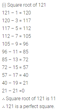 ICSE Understanding Mathematics Class 8 Solutions Chapter 3 Squares and Square Roots Ex 3.3 Q1
