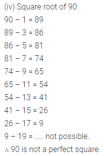 Maths Questions for Class 8 ICSE With Answers Chapter 3 Squares and Square Roots Ex 3.3 Q1.2