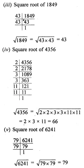 ML Aggarwal Maths for Class 8 Solutions Book Pdf Chapter 3 Squares and Square Roots Ex 3.3 Q2.1