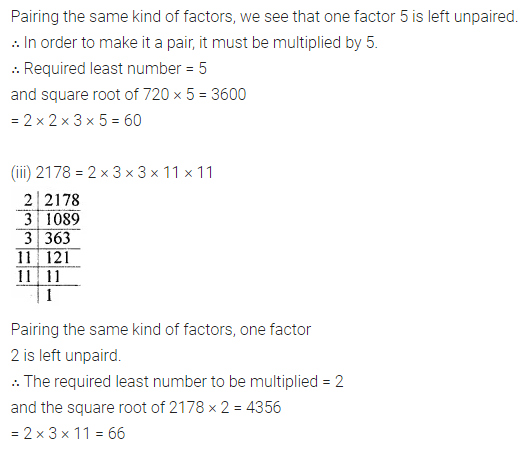 APC Maths Class 8 Solutions Chapter 3 Squares and Square Roots Ex 3.3 Q4.1