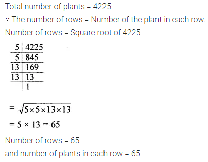 ICSE Class 8 Maths Book Solutions Free Download Pdf Chapter 3 Squares and Square Roots Ex 3.3 Q7