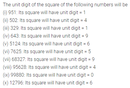 APC Maths Class 8 Solutions Chapter 3 Squares and Square Roots Ex 3.2 Q2