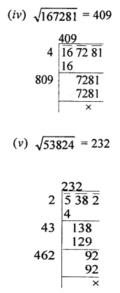 ICSE Class 8 Maths Book Solutions Free Download Pdf Chapter 3 Squares and Square Roots Ex 3.4 Q1.1