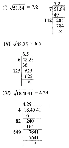 ML Aggarwal Maths for Class 8 Solutions Book Pdf Chapter 3 Squares and Square Roots Ex 3.4 Q3