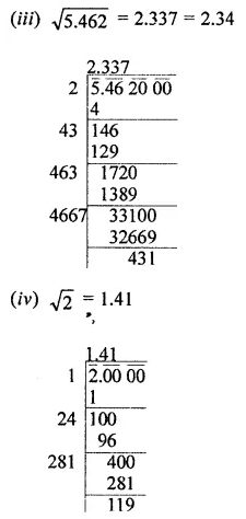 ICSE Understanding Mathematics Class 8 Solutions Chapter 3 Squares and Square Roots Ex 3.4 Q4.1