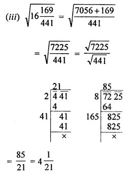 ML Aggarwal Maths for Class 8 Solutions Book Pdf Chapter 3 Squares and Square Roots Ex 3.4 Q5.2