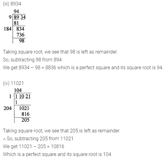 APC Maths Class 8 Solutions Chapter 3 Squares and Square Roots Ex 3.4 Q6.1