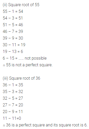 ICSE Class 8 Maths Book Solutions Free Download Pdf Chapter 3 Squares and Square Roots Ex 3.3 Q1.1