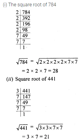 ICSE Mathematics Class 8 Solutions Chapter 3 Squares and Square Roots Ex 3.3 Q2