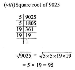 APC Maths Class 8 Solutions Chapter 3 Squares and Square Roots Ex 3.3 Q2.3