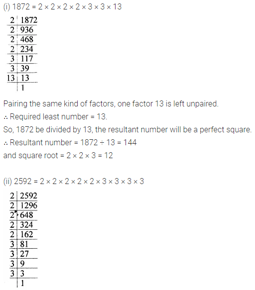 Maths Questions for Class 8 ICSE With Answers Chapter 3 Squares and Square Roots Ex 3.3 Q5