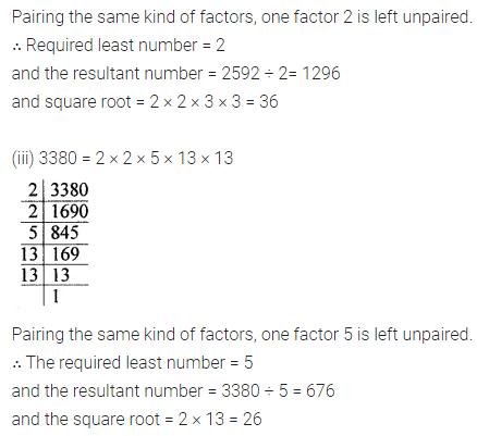 ICSE Mathematics Class 8 Solutions Chapter 3 Squares and Square Roots Ex 3.3 Q5.1