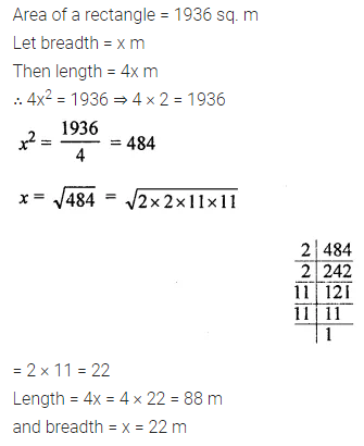 Maths Questions for Class 8 ICSE With Answers Chapter 3 Squares and Square Roots Ex 3.3 Q8