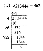 Maths Questions for Class 8 ICSE With Answers Chapter 3 Squares and Square Roots Ex 3.4 Q1.2