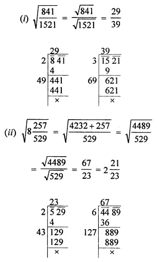 ICSE Mathematics Class 8 Solutions Chapter 3 Squares and Square Roots Ex 3.4 Q5.1