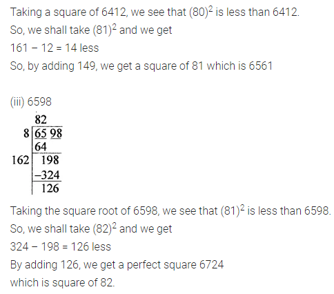 ICSE Class 8 Maths Book Solutions Free Download Pdf Chapter 3 Squares and Square Roots Ex 3.4 Q7.1