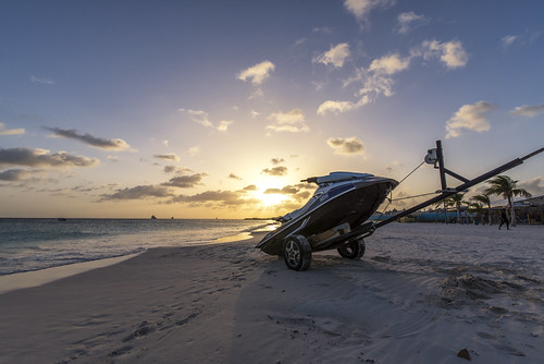 sunset sun dusk evening ride jetski beach holiday sand sea barbados caribbean light sunrays sky paradise island happy landscape outdoor