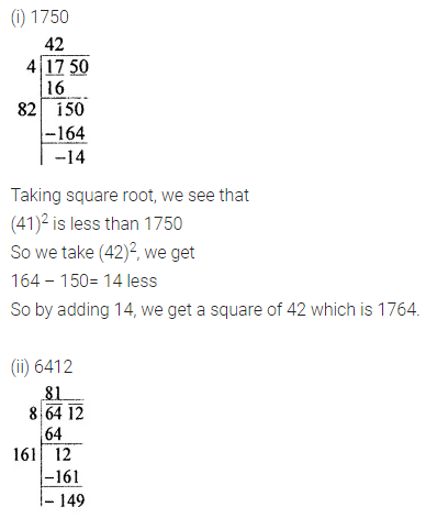 ICSE Understanding Mathematics Class 8 Solutions Chapter 3 Squares and Square Roots Ex 3.4 Q7