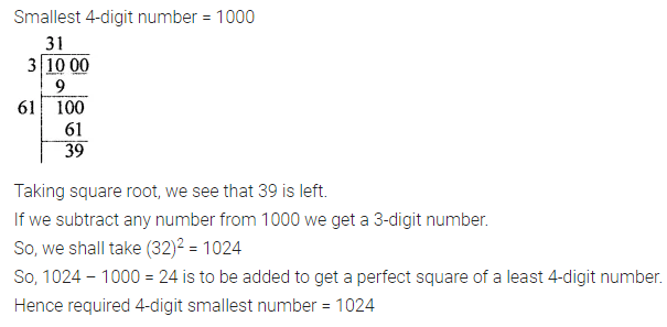 ICSE Mathematics Class 8 Solutions Chapter 3 Squares and Square Roots Ex 3.4 Q8