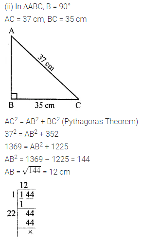 APC Maths Class 8 Solutions Chapter 3 Squares and Square Roots Ex 3.4 Q10.1