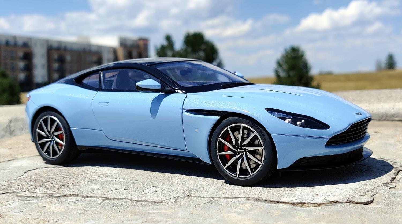 1 18 Autoart Aston Martin Db11 Q Frosted Glass Blue Aston Martin Diecastxchange Com Diecast Cars Forums