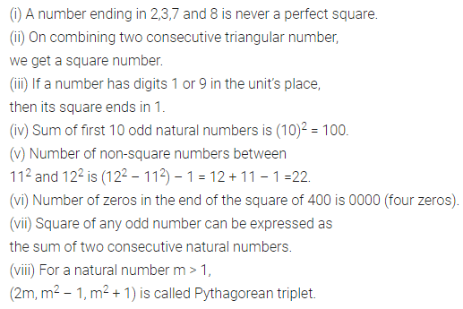 ML Aggarwal Class 8 Solutions Chapter 3 Squares and Square Roots Objective Type Questions Q1