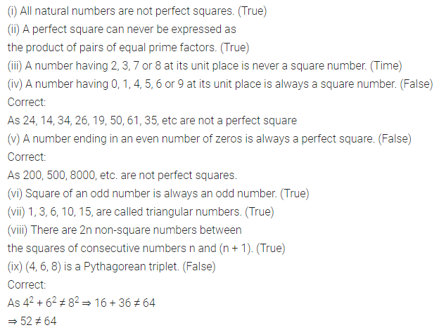 APC Maths Class 8 Solutions Chapter 3 Squares and Square Roots Objective Type Questions Q2