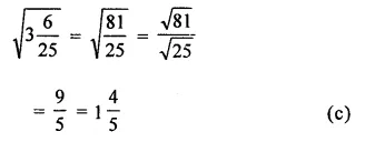ICSE Understanding Mathematics Class 8 Solutions Chapter 3 Squares and Square Roots Objective Type Questions Q9.1