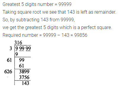 APC Maths Class 8 Solutions Chapter 3 Squares and Square Roots Check Your Progress Q16