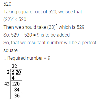 ML Aggarwal Class 8 Solutions Chapter 3 Squares and Square Roots Check Your Progress Q15